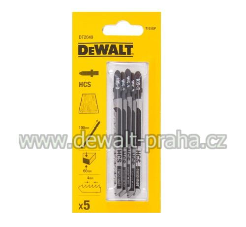 DT2049 DeWALT pilový plátek HCS 100 mm na dřevo 5ks