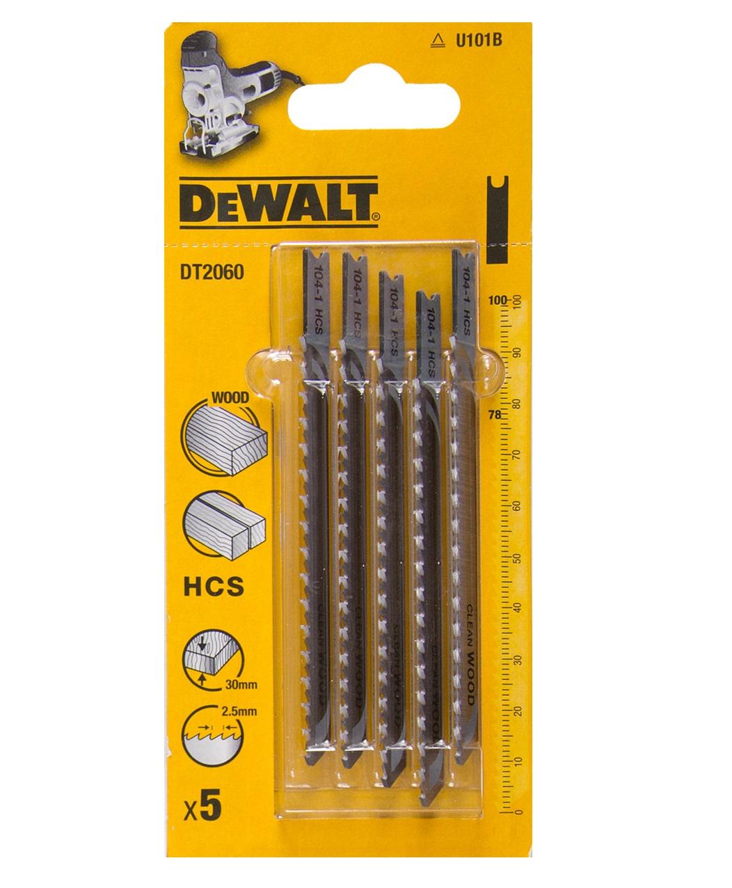 DT2060 DeWALT pilový plátek HCS 100 mm na dřevo 5ks