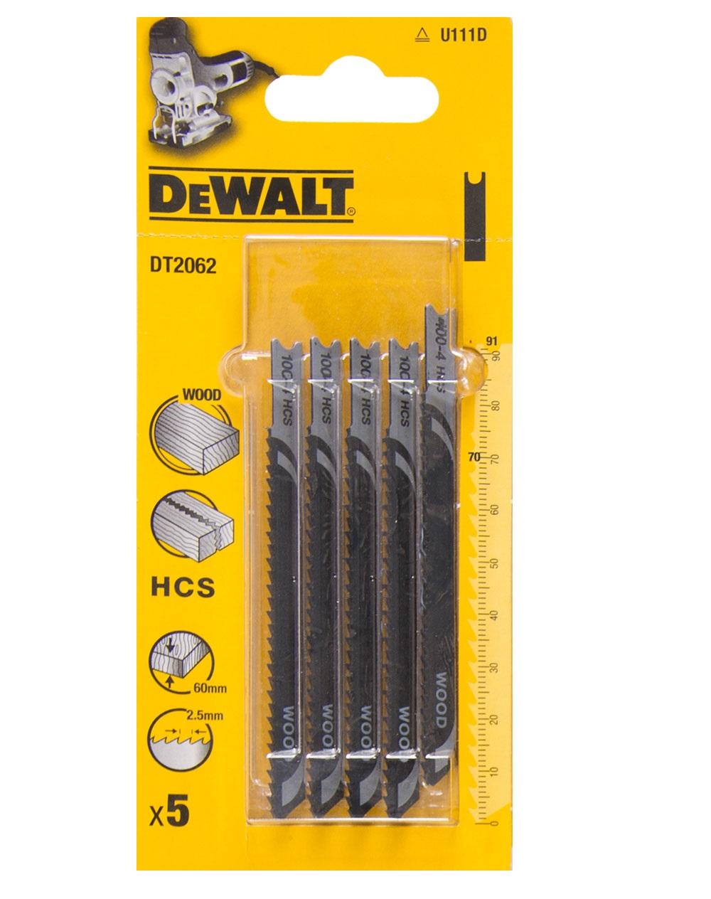 DT2062 DeWALT pilový plátek HCS 91 mm na dřevo 5ks