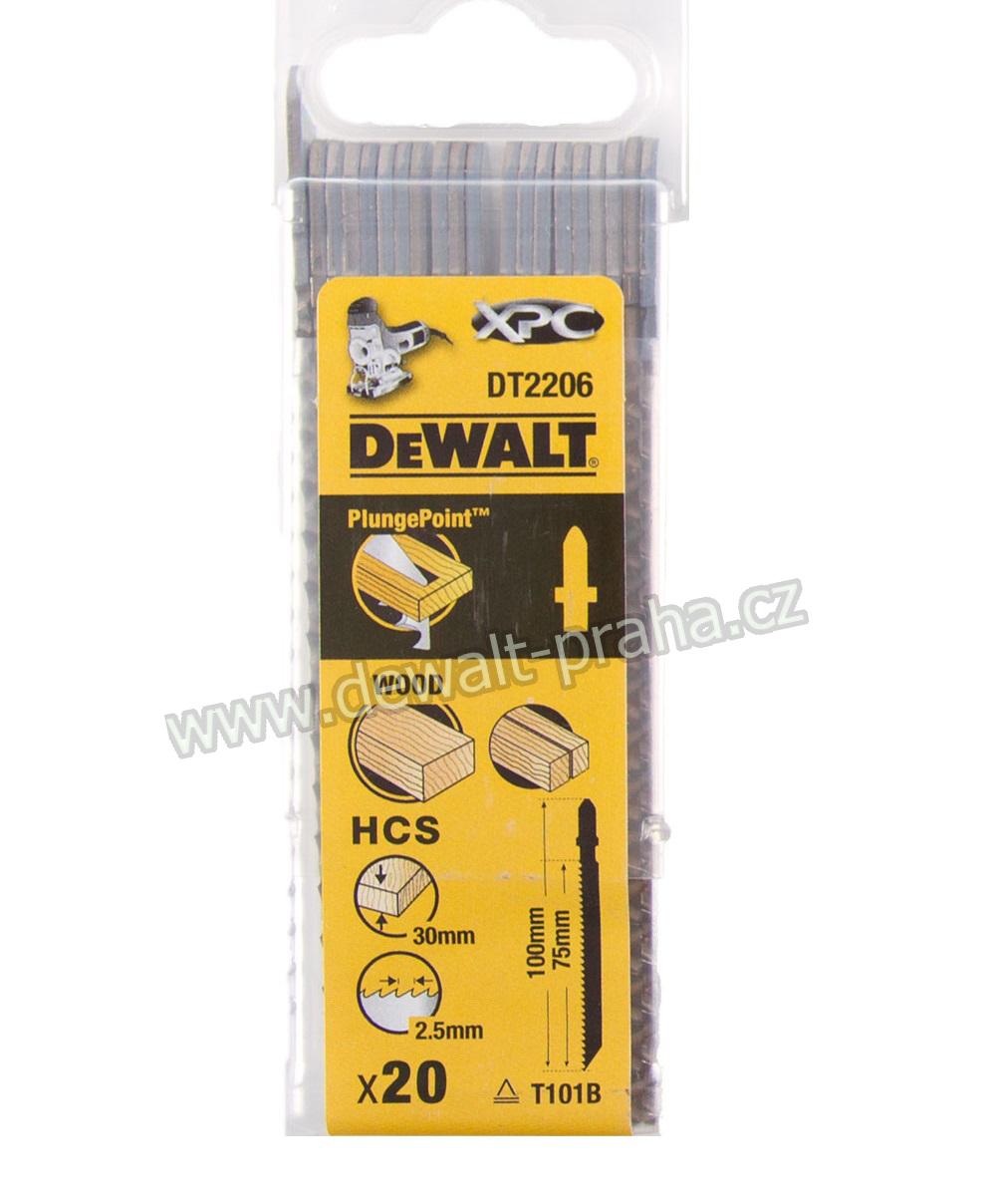 DT2206 DeWALT pilový plátek XPC 100 mm na dřevo 20ks z oceli s vysokým obsahem uhlíku (HCS)