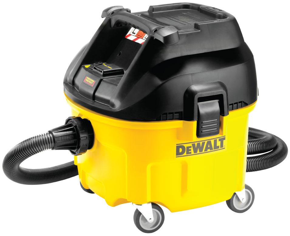 Průmyslový vysavač pro suché i mokré vysávání 30l, DeWALT - DWV901L