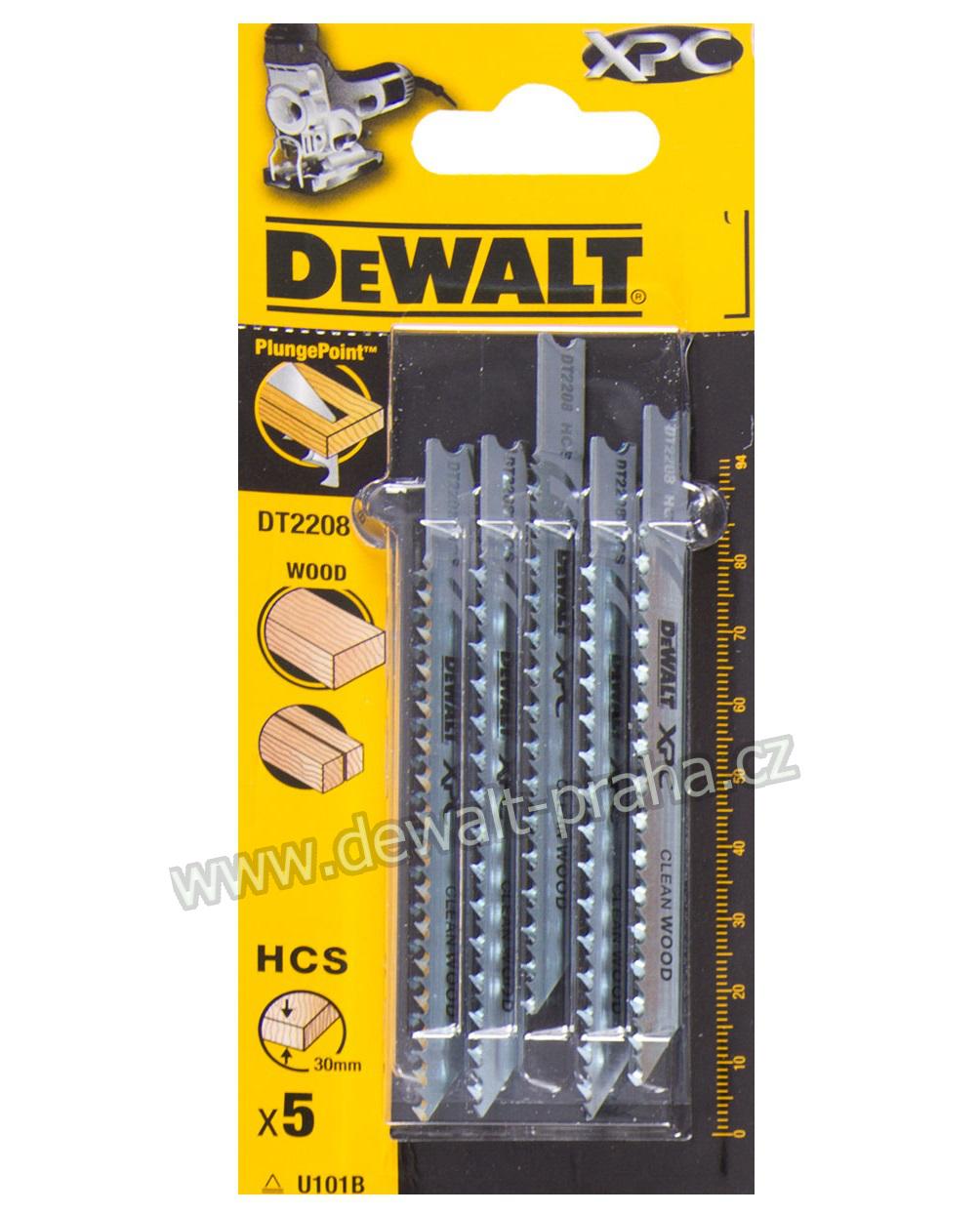 DT2208 DeWALT pilový plátek XPC 94 mm na dřevo 5ks z oceli s vysokým obsahem uhlíku (HCS)