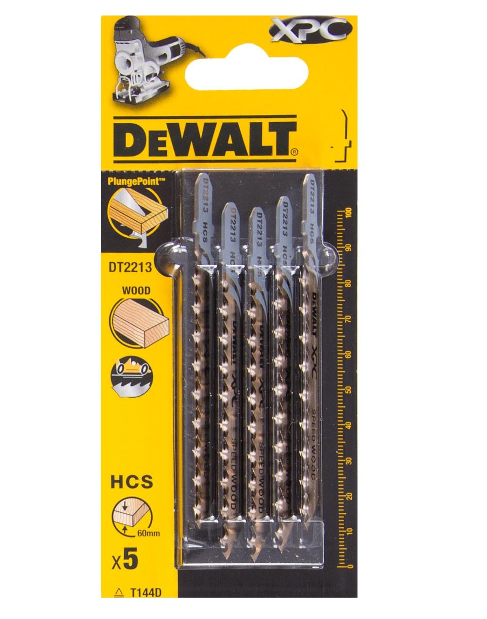 DT2213 DeWALT pilový plátek XPC 100 mm na dřevo 5ks z oceli s vysokým obsahem uhlíku (HCS)