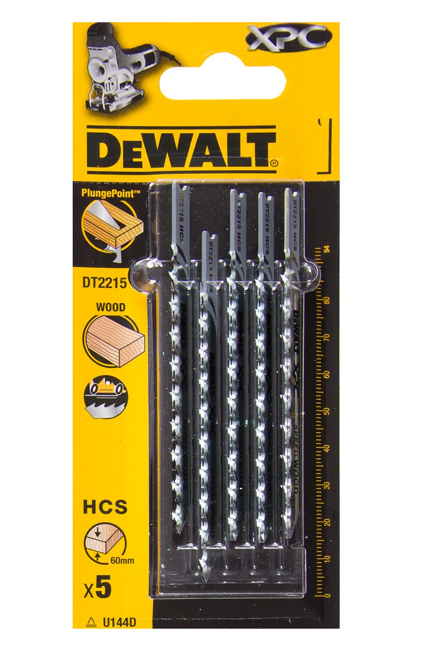 DT2215 DeWALT pilový plátek XPC 94 mm na dřevo 5 ks z oceli s vysokým obsahem uhlíku (HCS)