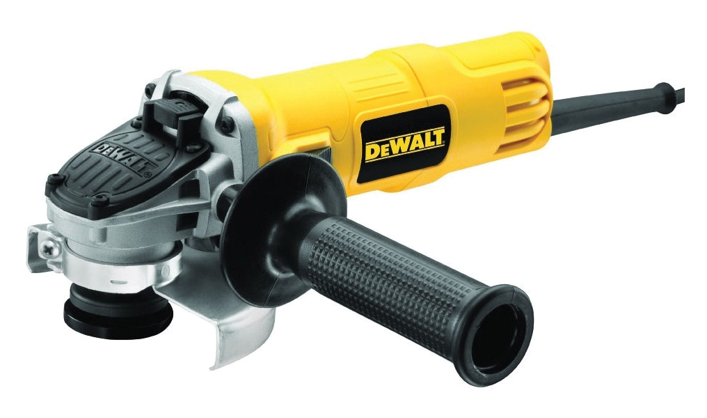 DWE4120 DeWALT malá úhlová bruska 115 mm s páčkovým spínačem 900 W
