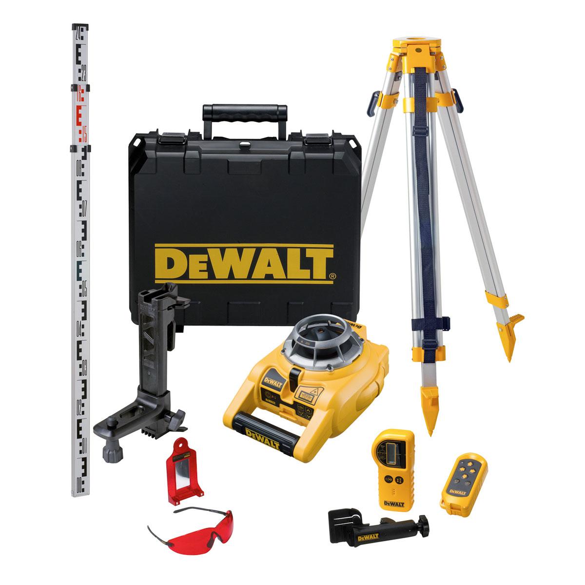 DW075PK DeWALT Rotační laser s automatickým srovnáním kompletní sada