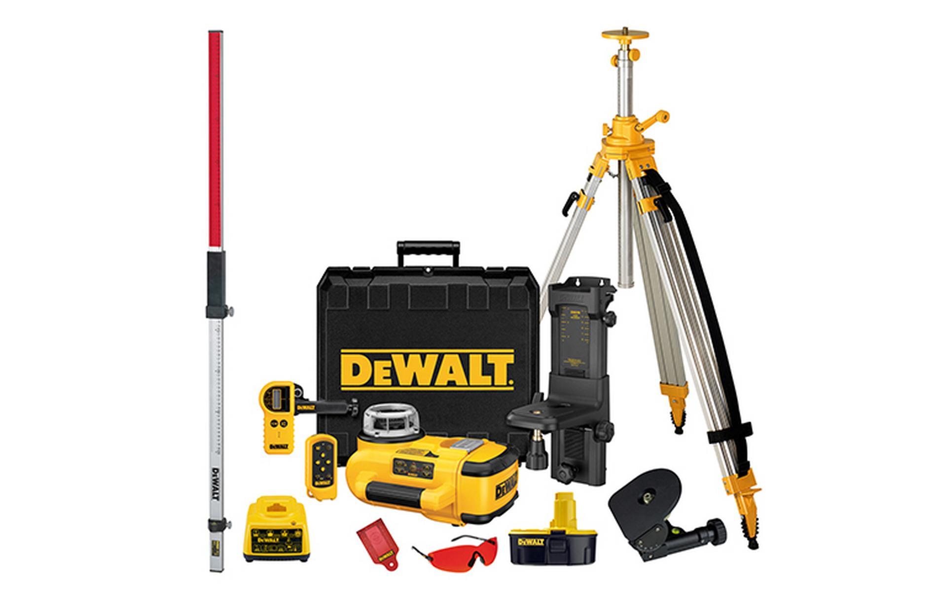 DW079PKH DeWALT Rotační laser s automatickým srovnáním, sada srovnání v horizontální a vertikální rovině