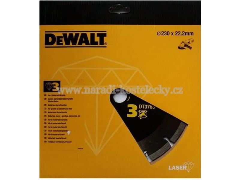 DT3763 Diamantový kotouč na tvrdé materiály, žulu, beton 230mm, Laser 3 DeWALT