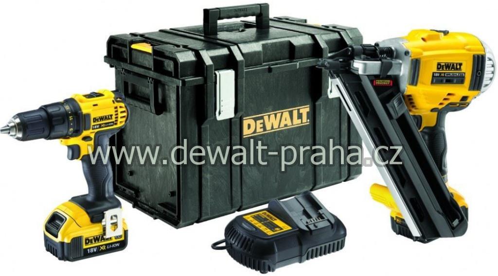DCK262P2 DeWALT bezuhlíková kombo sada 2 aku nářadí 18V XR Li-Ion s kufrem Tough kompaktní aku vrtačka/ šroubovák