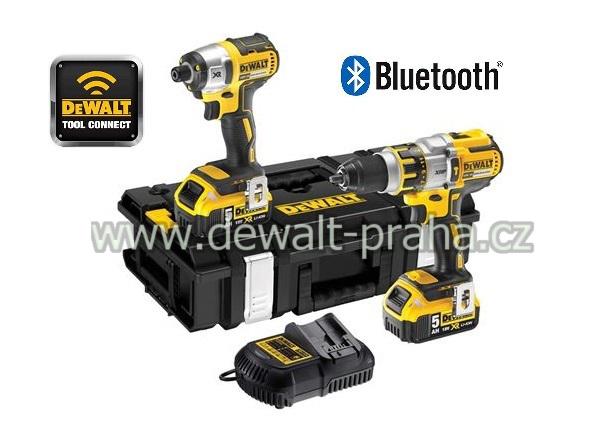 DCK250P2B DeWALT sada 2 aku nářadí 18V XR Li-Ion Bluetooth 5,0 Ah DOPRAVA ZDARMA