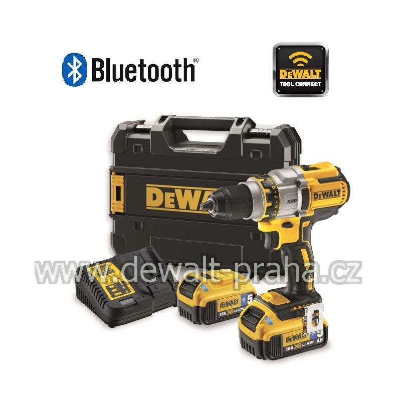 DCD990P2B DeWALT Aku bezuhlíková vrtačka 18V XR 2x 5,0 Ah Li-Ion Bluetooth