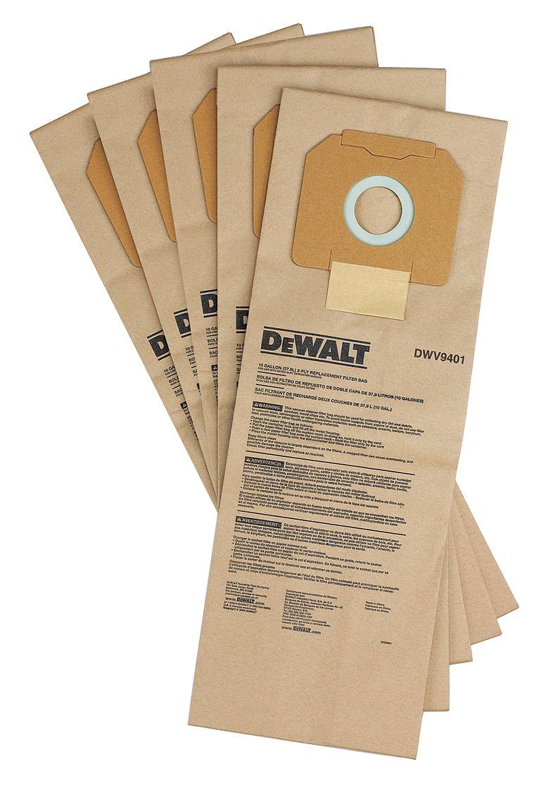DWV9401 DeWALT Papírový pytlík na prach 5ks pro vysavač DWV902L a DWV902M