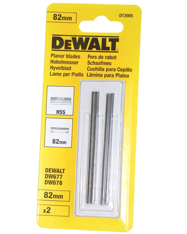 Hoblovací nože oboustranné 82 mm,HSS, DeWALT - DT3905
