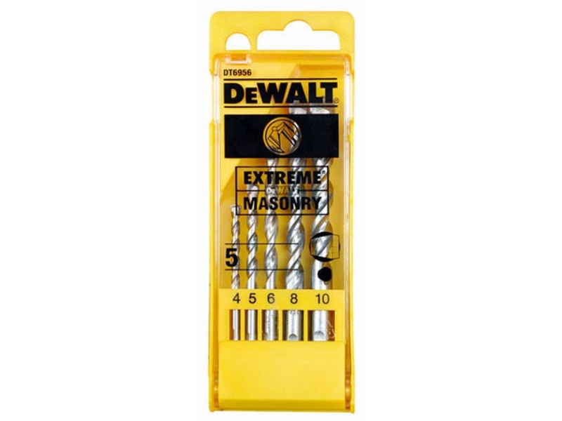 DT6956 DeWALT 5-ti dílná sada vrtáků EXTREME do zdiva