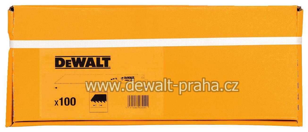 DT2320 DeWalt Bimetalové pilové listy / plátek pro řezání kovu, 100ks Baleno po 100 ks