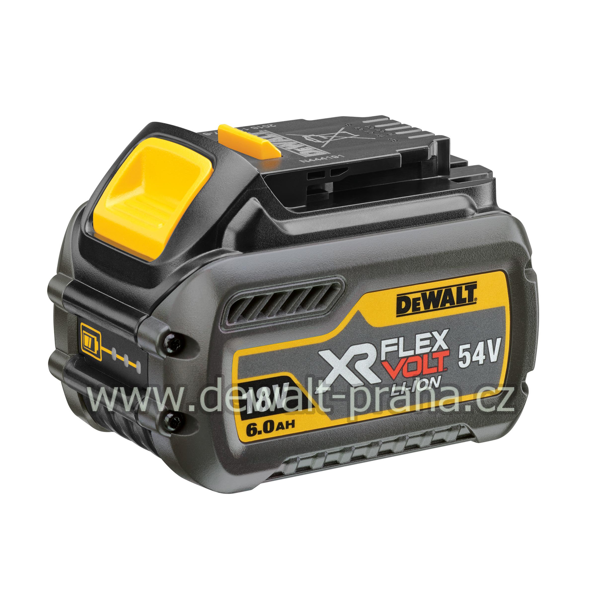 DCB546 DeWALT aku baterie 18V 6.0Ah XR FLEXVOLT 54V