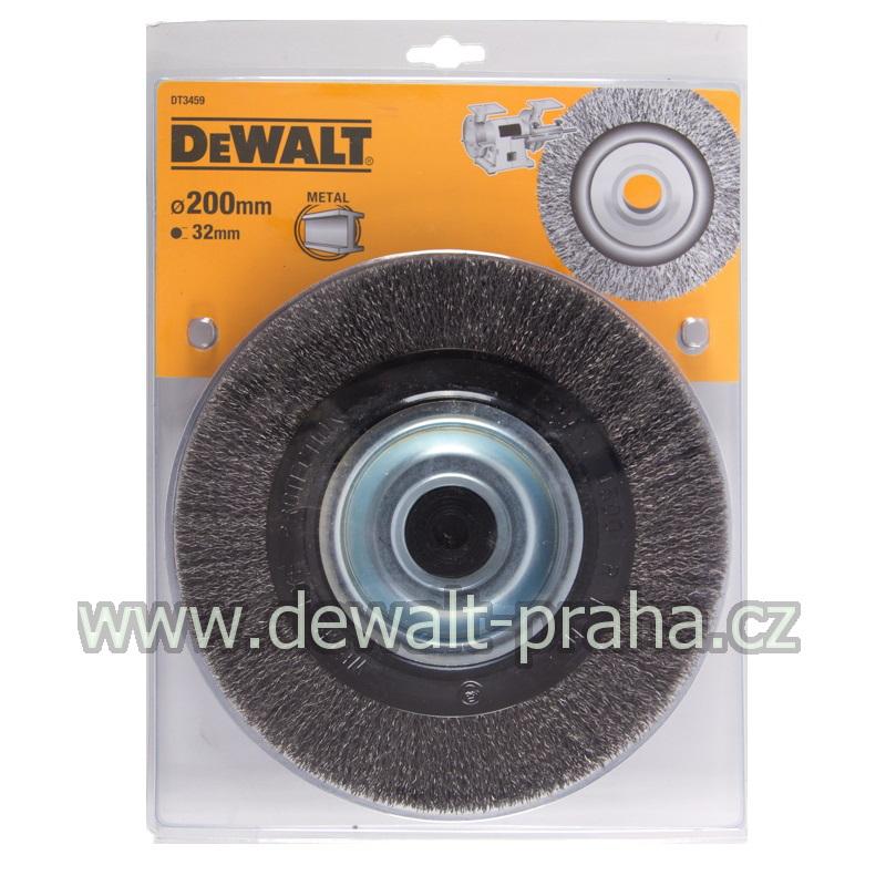 DT3459 DeWALT Drátěný kartáč s vlnitými dráty pro stolní brusky průměr 200 mm