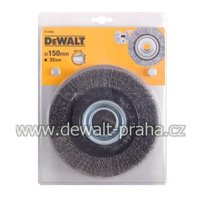 DT3456 DeWALT Drátěný kartáč s vlnitými dráty pro stolní brusky průměr 150 mm
