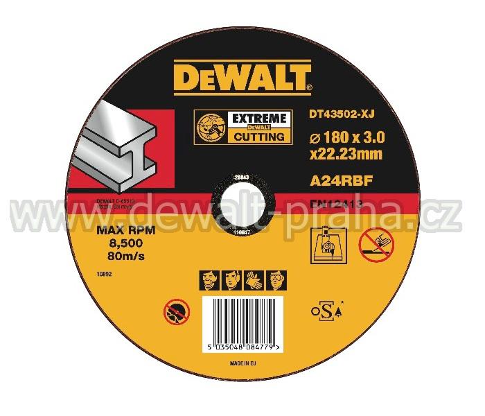 DT43502 DeWALT EXTREME Řezný kotouč na kov 180 x 3,0 mm plochý Typ 1