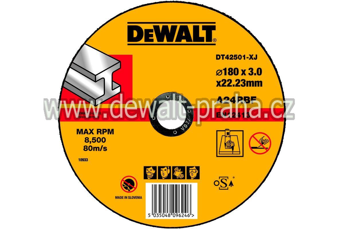 DT42501 DeWALT Řezný kotouč na kov 180 x 3 mm plochý Typ 1