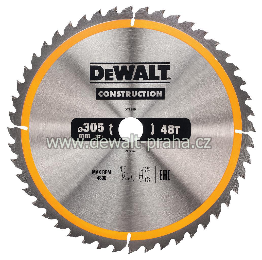 DT1959 DeWALT Pilový kotouč 305 x 30 mm na dřevo, 48 zubů