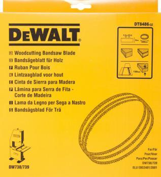 Pilový pás, dřevo, lamináty, pro DW738/9 10 mm DeWALT - DT8486