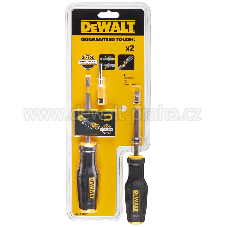 DWHT0-62057 DeWALT Set šroubováku 2ks s Magnetic screw lock