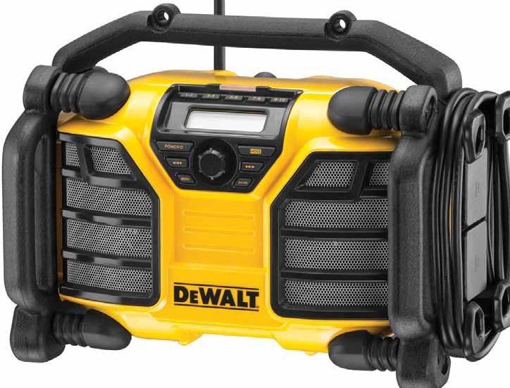 DCR017 DeWALT Aku i síťové Rádio FM/AM / nabíječka XR Li-Ion