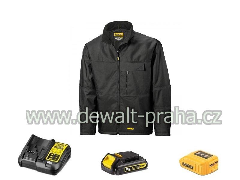 Vyhřívaná bunda XL, XR Li-Ion (souprava s aku a nabíječkou) DeWALT - DCJ069C1XL