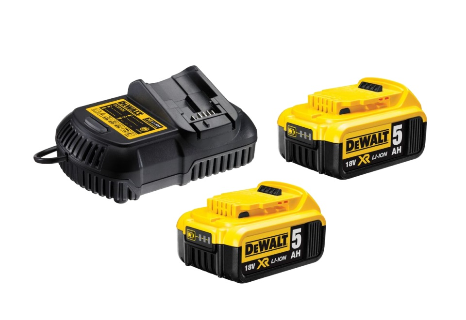 DCB105P2 DeWALT Sada nabíječky a 2x baterií XR Li-Ion 18V 5,0 Ah