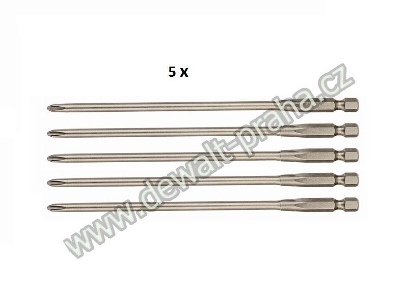 Šroubovací nástavece PH2 PR2, 153mm (5ks) DeWALT - DT7206