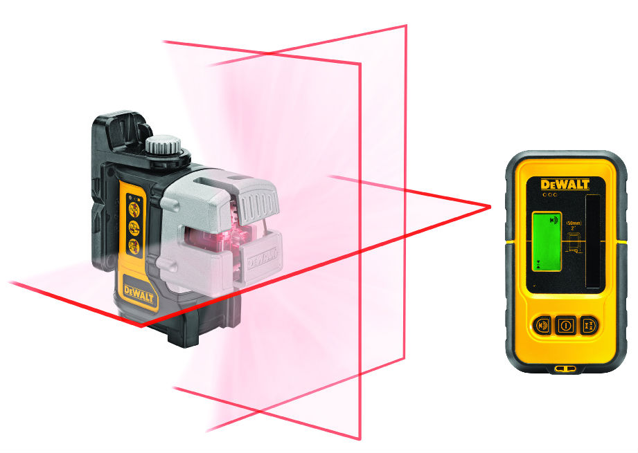 DW089KD Samonivelační křížový Multi Line Laser + přijímač DE0892 DeWALT