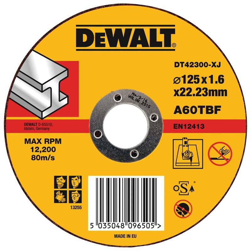DT42300 Kotouč řezný na ocel 125x1,6 mm DeWALT