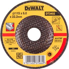 DT3402 Brusný kotouč 115 mm na kov vypouklý DeWALT
