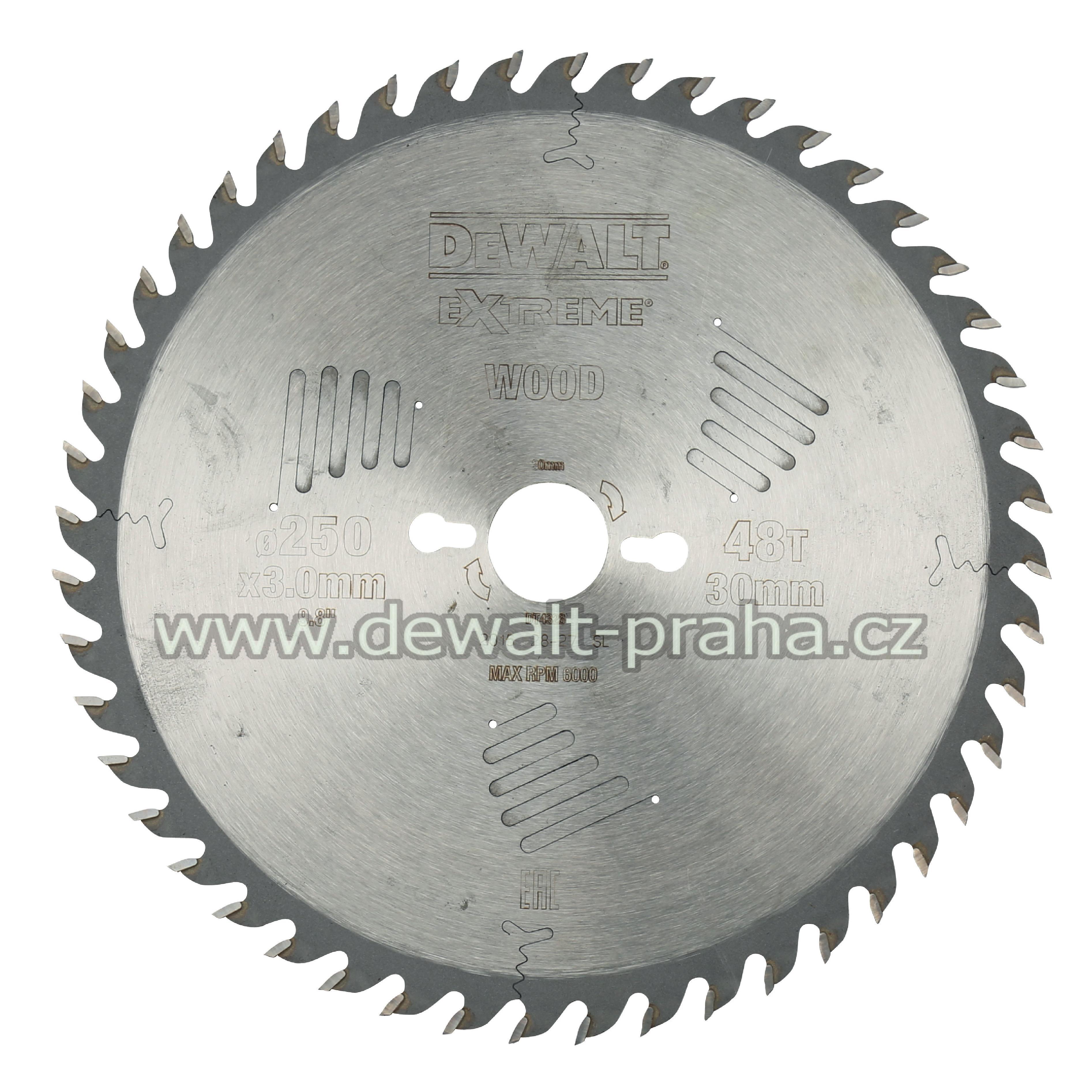 DT4323 DeWALT Pilový kotouč 250x30mm, 30 zubů