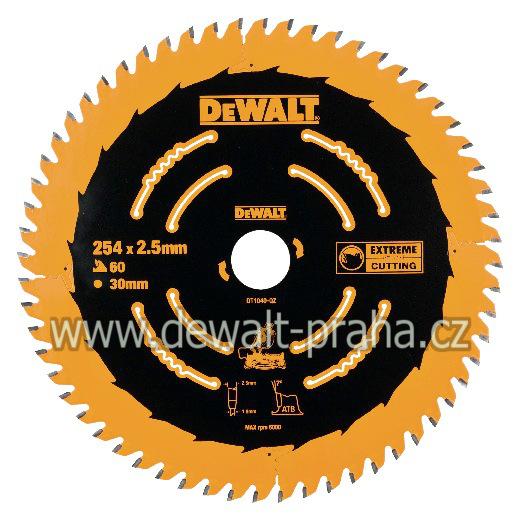 DT1040 DeWALT EXTREME Pilový kotouč 254x30mm, 60 zubů