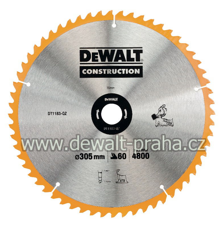 DT1183 DeWALT Pilový kotouč 305x30mm, 60 zubů