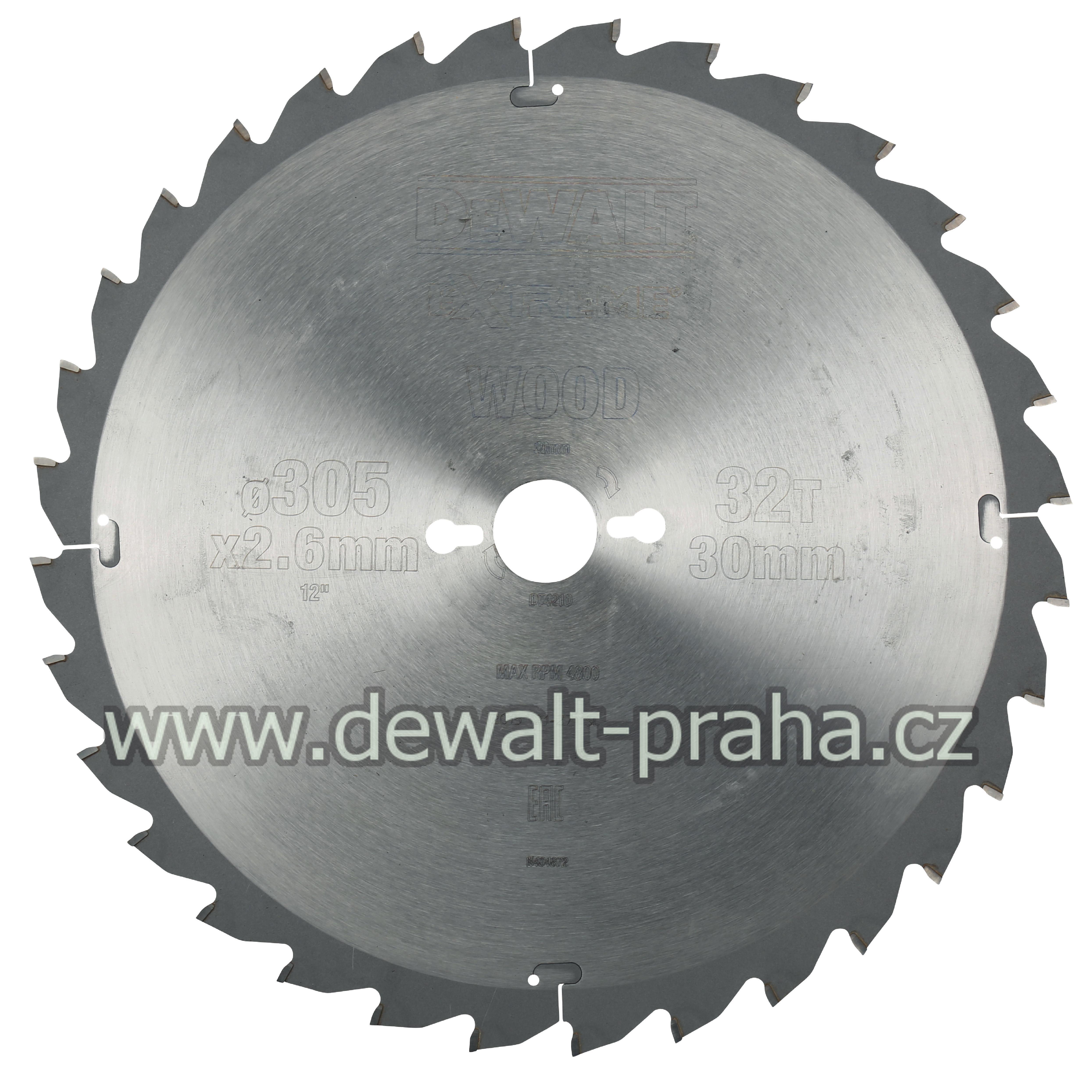 DT4210 DeWALT Pilový kotouč 305x30mm, 32 zubů