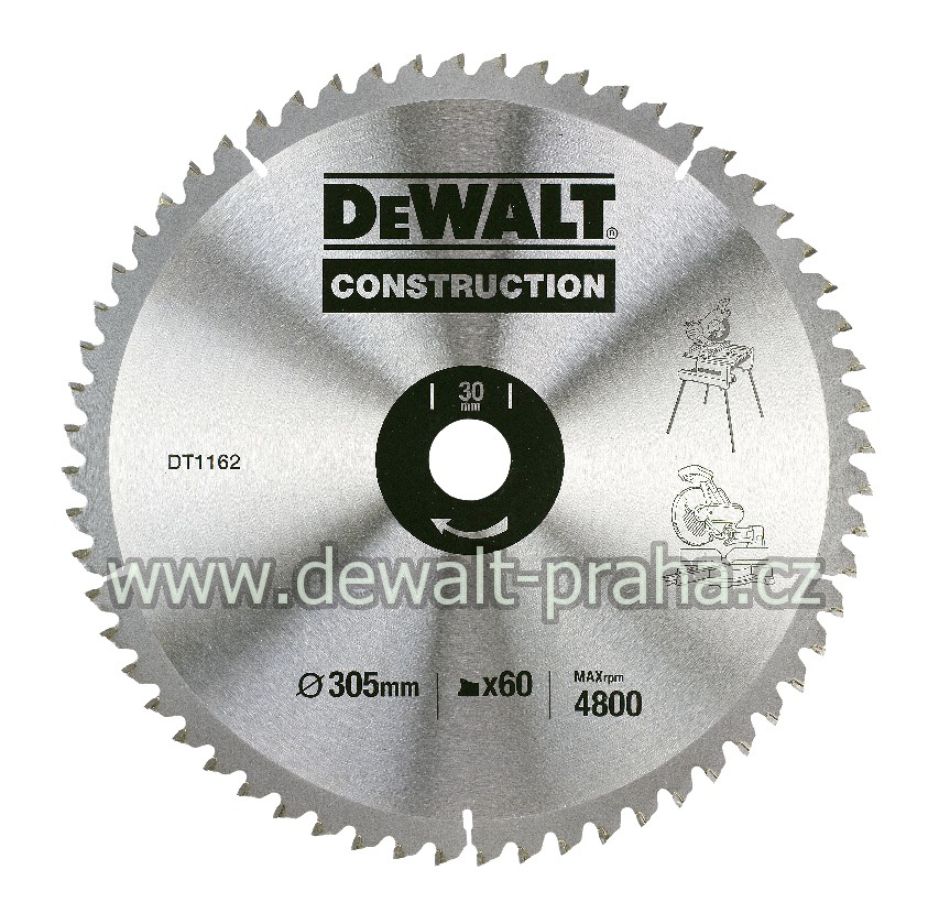 DT1162 DeWALT Pilový kotouč 305x30mm, 60 zubů