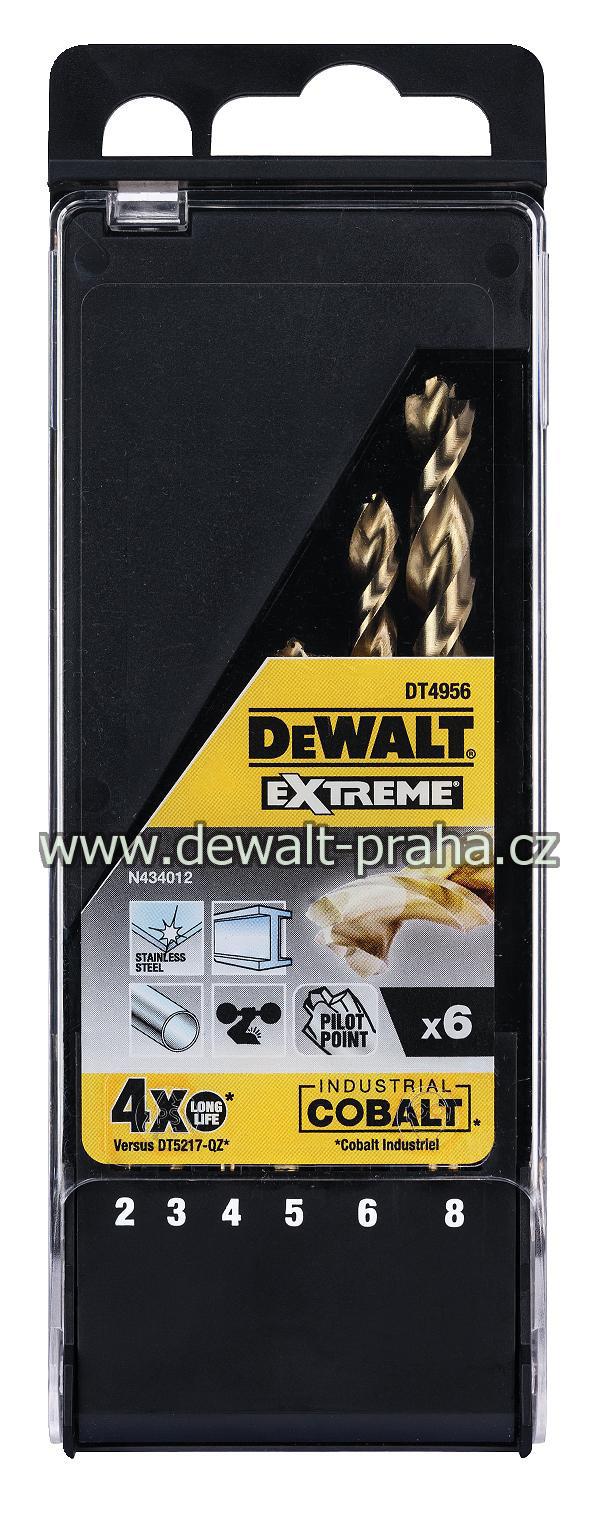 DT4956 DeWALT 6dílná sada HSS-E COBALT