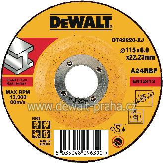DT42220 DeWALT Vypouklý brusný kotouč 115 mm na kov