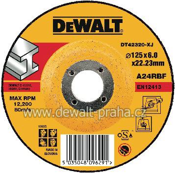 DT42320 DeWALT Vypouklý brusný kotouč 125 mm na kov