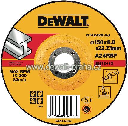 DT42420 DeWALT Vypouklý brusný kotouč 150 mm na kov