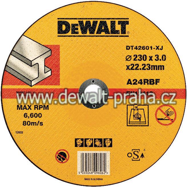 DT42601 DeWALT Kotouč řezný 230 mm na kov plochý
