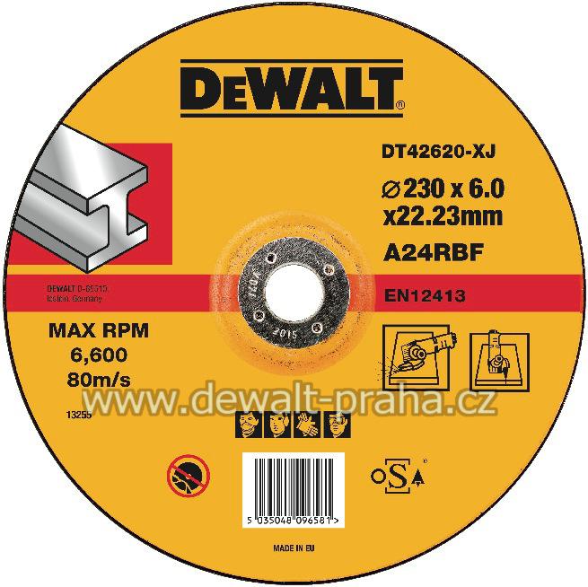 DT42620 DeWALT Vypouklý brusný kotouč 230 mm na kov