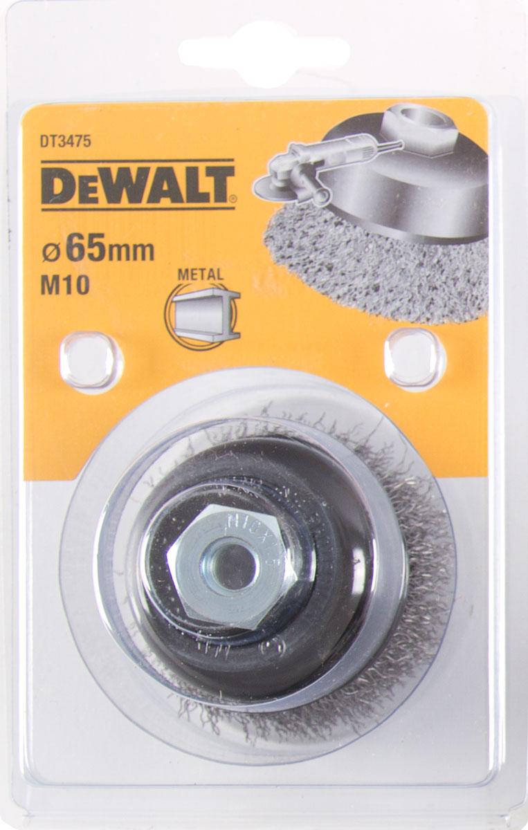 DT3475 DeWALT Drátěný kartáč talířový vlnité dráty délka 19mm pro úhlové brusky