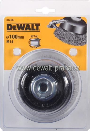 DT3489 DeWALT Drátěný kartáč talířový vlnité dráty, průměr 100 mm Kartáč pro úhlové brusky, délka 26 mm