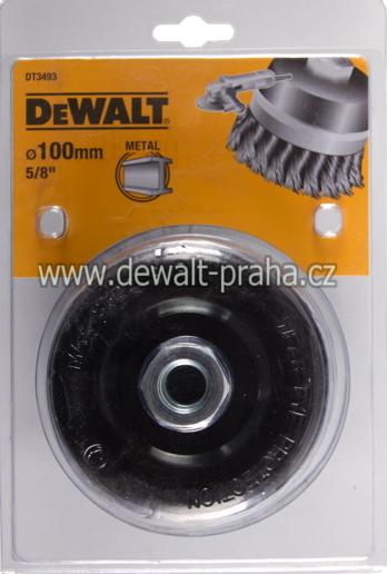 DT3493 DeWALT Drátěný kartáč s kroucenými uzly, průměr 100 mm Kartáč pro úhlové brusky, délka drátu 24 mm
