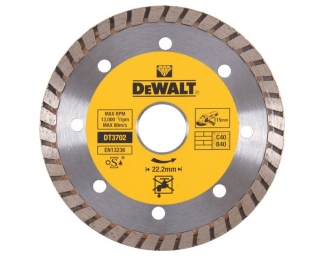 DT3702 DeWALT diamantový kotouč Turbo 115 x 22,2 mm