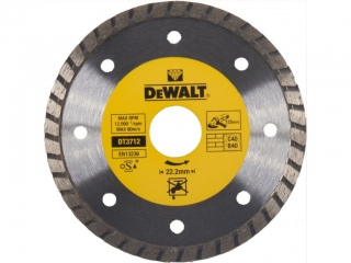 DT3712 DeWALT Diamantový kotouč Turbo 125 x 22,2 mm, Laser 1